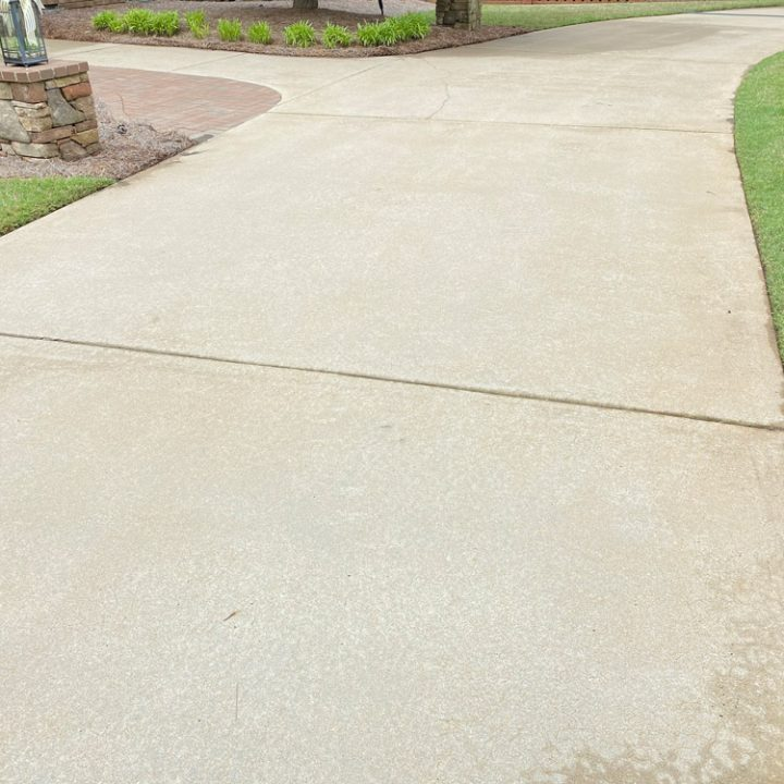 concrete after a pressure cleaning