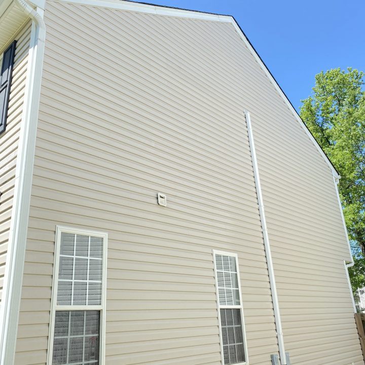 clean siding on house